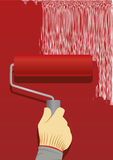 Painting-roller Stock Image