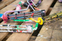 Painting rollers covered in paint Royalty Free Stock Photo