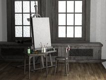 Painting room Royalty Free Stock Photos
