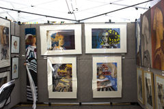 Painting for sale Stock Images