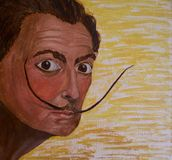 The painting `Salvador Dali. stock illustration