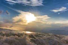 Painting, sea waves Stock Image