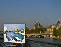 Painting Senna Stock Photography