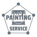 Painting service logo, simple style Royalty Free Stock Photos