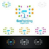 Eco Painting Vector Logo Design. Painting Service vector Logo design Royalty Free Stock Photos