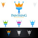 Home Painting King Vector Logo Design. Painting Service vector Logo design Stock Photography