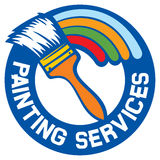 Painting services. Label,  symbol Royalty Free Stock Image