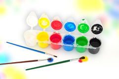 Painting set Royalty Free Stock Photos