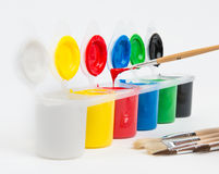 Painting set. With brushes for coloured creation Royalty Free Stock Images