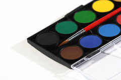 Painting set, colors, brush Royalty Free Stock Images