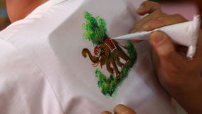 Painting on a shirt Thailand Royalty Free Stock Image