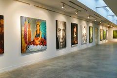Painting showing at Chiang Mai university art center Royalty Free Stock Photo