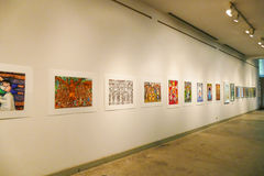 Painting showing at Chiang Mai university art center Stock Images