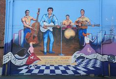 Painting on the side of The International Rock-a-Billy Hall of Fame in Jackson, Tennessee. Royalty Free Stock Photos