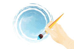 Painting sky Stock Images
