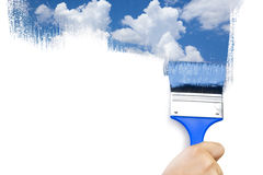 Painting sky / isolated on white royalty free stock photos