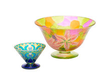 Painting stained glass bowls Stock Photography