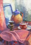 Painting still life Stock Images