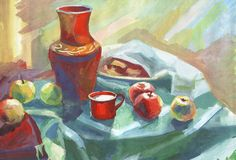 Painting still life Royalty Free Stock Image