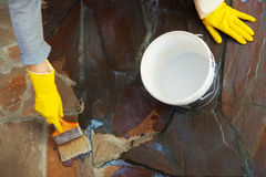 Painting stone surface Royalty Free Stock Photos