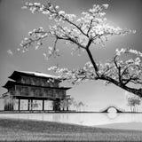 Painting style of china landscape Stock Photo