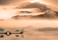 Painting style of chinese landscape. For adv or others purpose use royalty free stock images