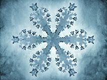 Painting-style representation of a snowflake Royalty Free Stock Image