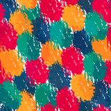 Painting style seamless pattern Royalty Free Stock Photos