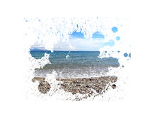 Painting summer landscape Royalty Free Stock Photography
