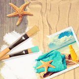 Painting Summer Postcard Stock Images