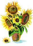 Painting sunflower Royalty Free Stock Photos