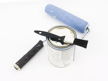 Painting Supplies. Laying on a white background Royalty Free Stock Photography