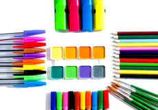 Painting supplies for art. Royalty Free Stock Photo