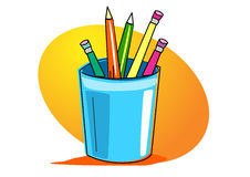 Painting supplies illustration Stock Photography