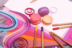 Painting supplies Royalty Free Stock Photos
