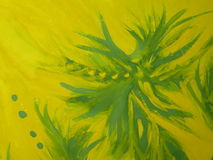 Painting surface. Yellow and green paintin surface texture, paper Stock Illustration