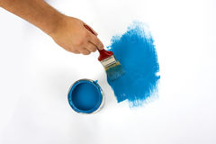 Painting surface blue Royalty Free Stock Image