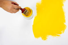 Painting surface yellow Stock Image