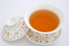 Painting tea cup and tea Royalty Free Stock Images