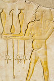 Painting at the temple of Hatshepsut, Luxor, Egypt Stock Images