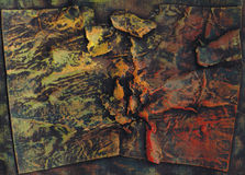 Painting texture - autumn 2 Stock Photography
