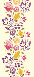 Painting Texture flowers vertical seamless pattern Royalty Free Stock Photography