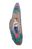 Painting of a Thai lady on wood Stock Images