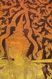 The painting of Thai-style mural Stock Photo