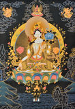 Painting of Tibet traditional religion. Tibet culture, traditional artwork as painting, named Tangka, with Buddha and religion symbol Royalty Free Stock Images