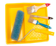 Painting tools. The image of painting tools on a white background stock photography