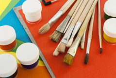 Painting tools. Stock Photo