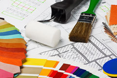 Painting tools and accessories Stock Image