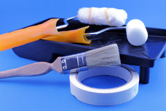 Painting Tools closeup view royalty free stock image