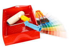 Painting tools and color guide Royalty Free Stock Photography